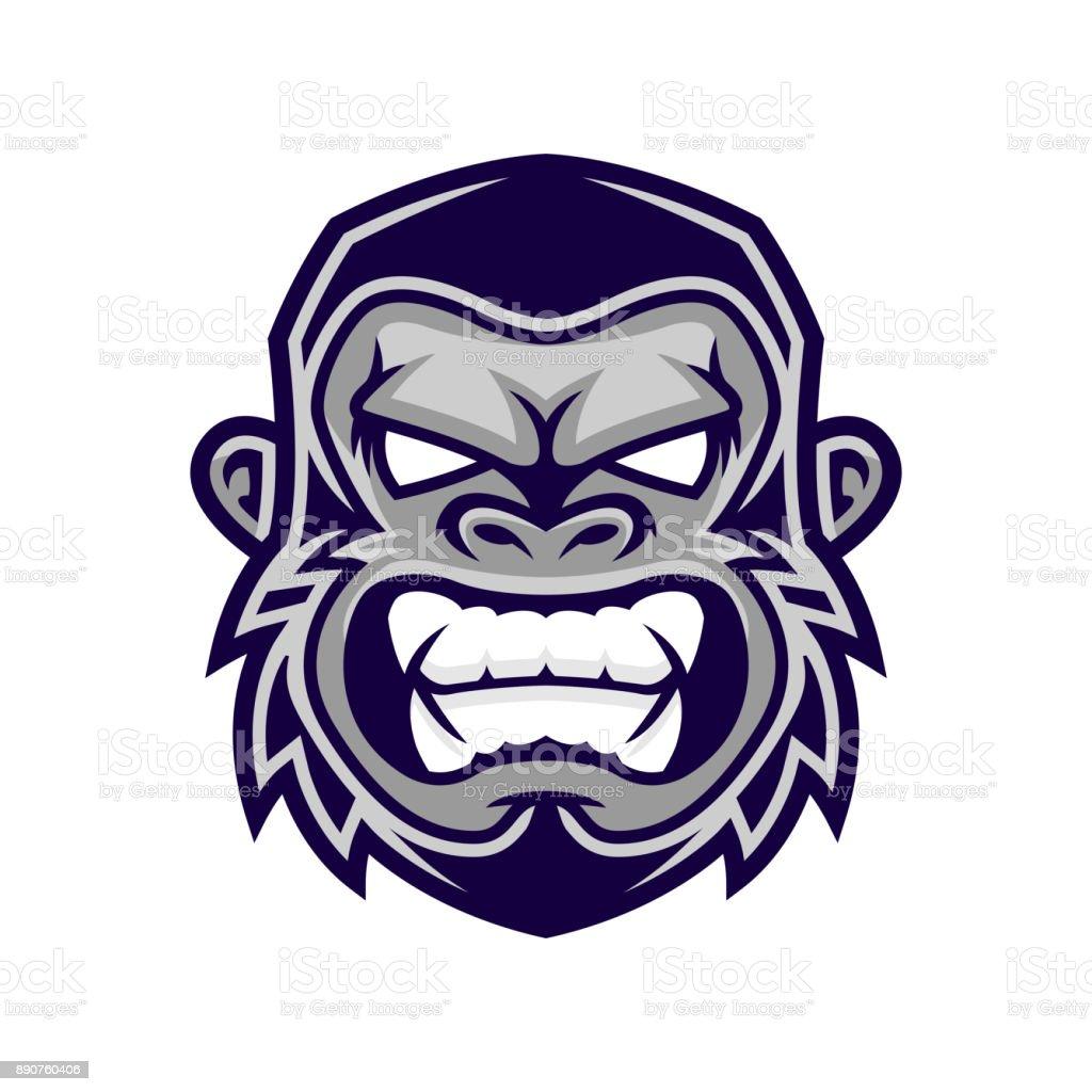 Gorilla Kopf Vektor Kopf Vektor Affe Affe Gesicht Stock Vektor Art ...