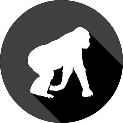 Gorilla Icon Silhouette 2