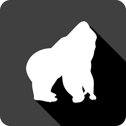 Gorilla Icon Silhouette