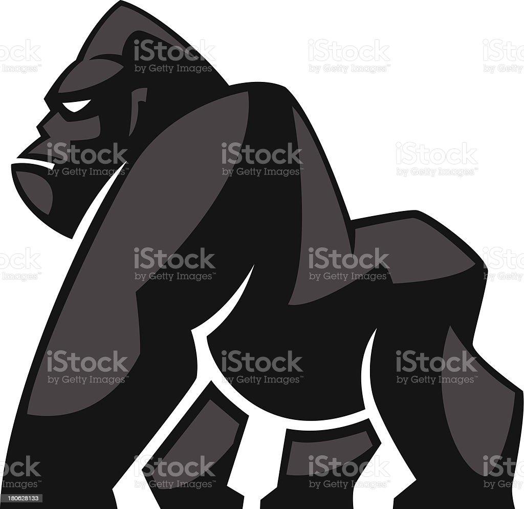 gorilla icon vector art illustration