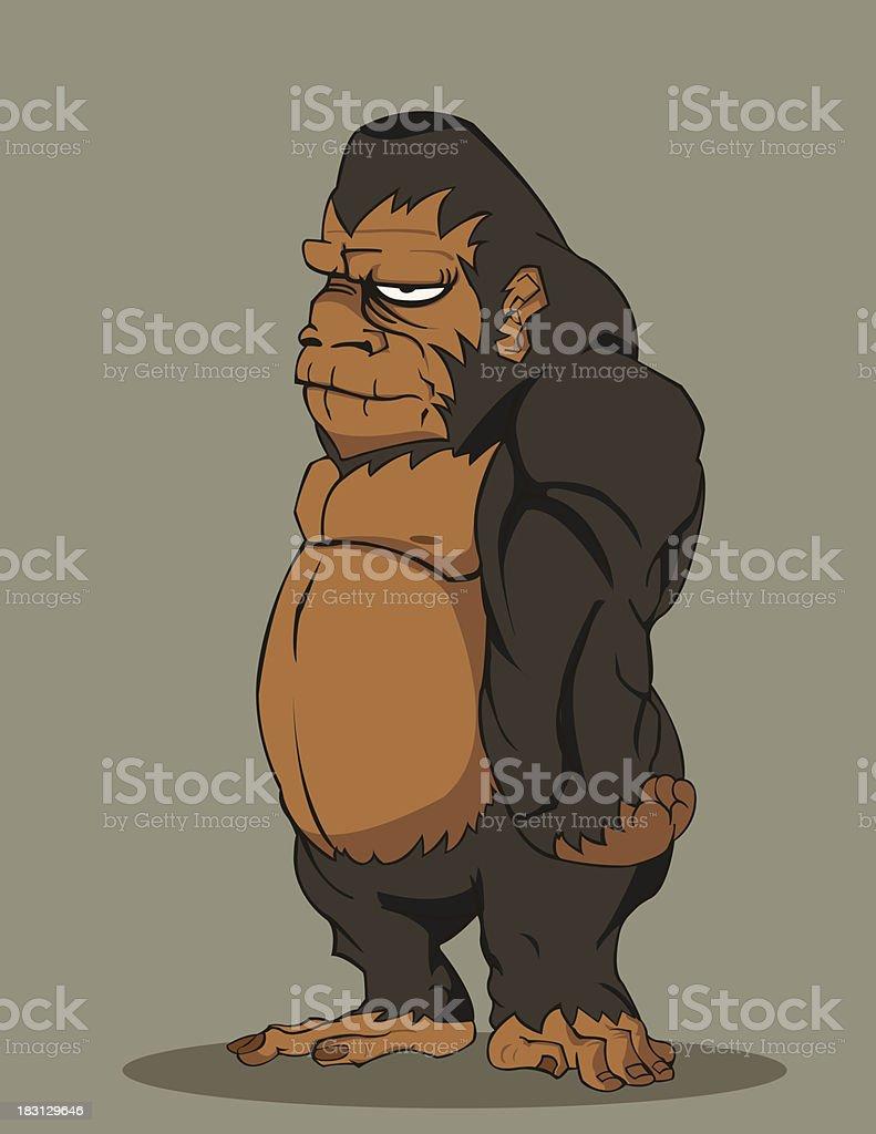 gorilla - Illustration royalty-free stock vector art