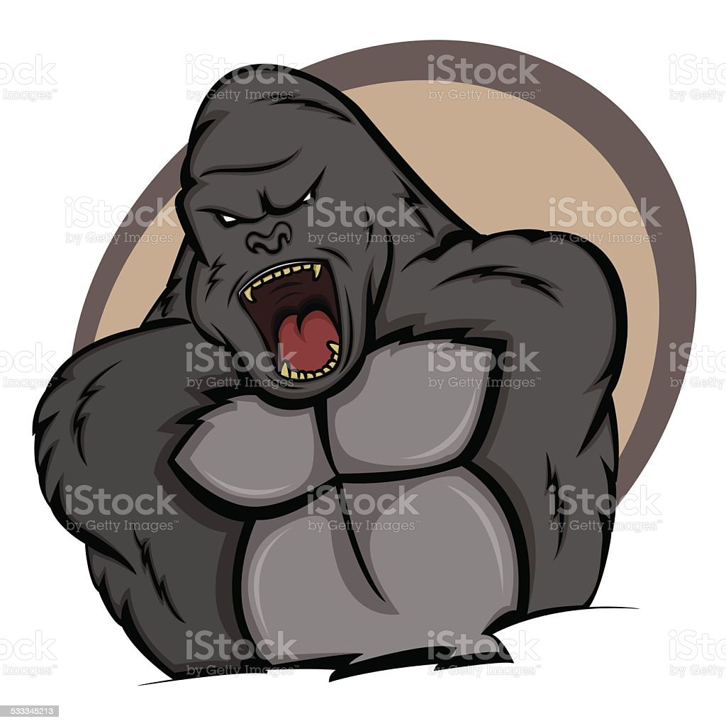 Ilustración de Gorila En La Página y más banco de imágenes de 2015 ...