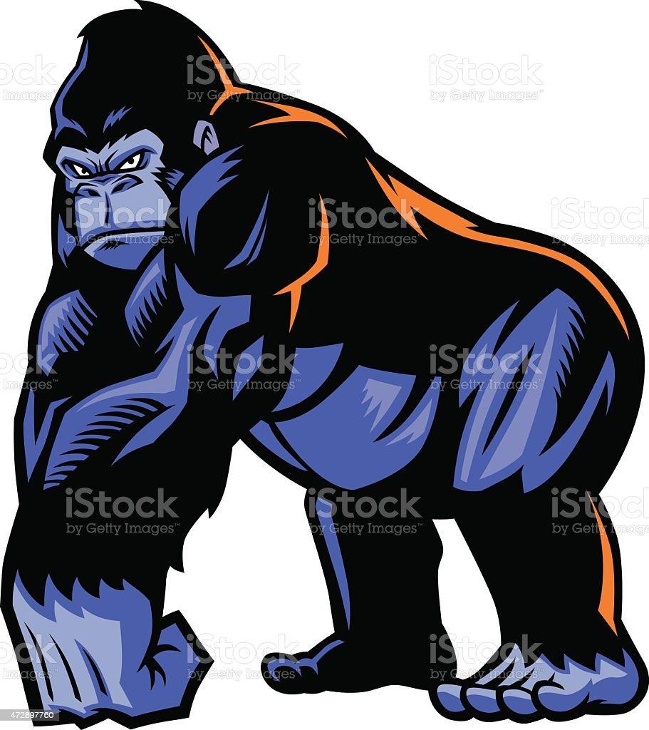 Gorille Mascotte - Illustration vectorielle