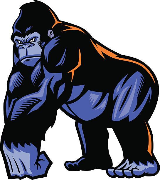 gorilla-maskottchen - gorilla stock-grafiken, -clipart, -cartoons und -symbole