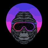 Gorilla Space vector illustration for your company or brand