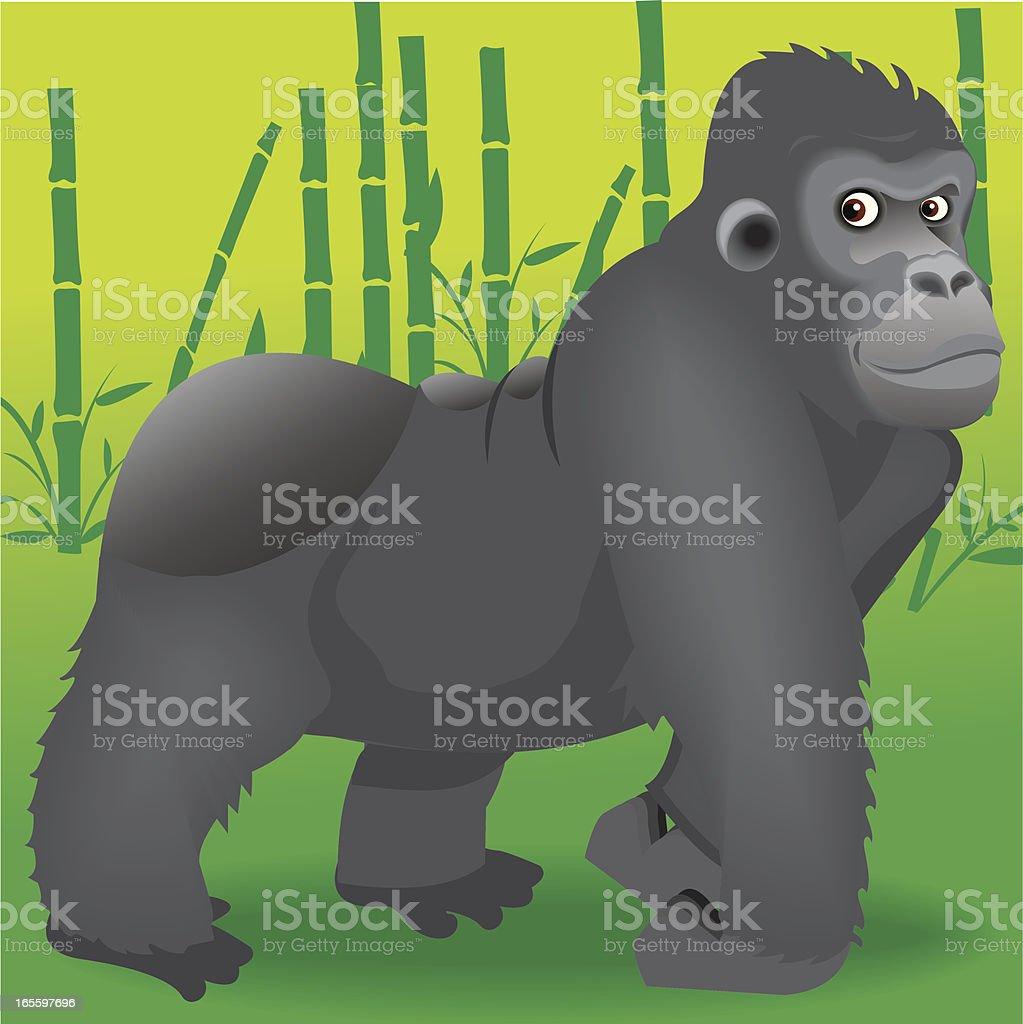 Gorila ilustración de gorila y más banco de imágenes de andar libre de derechos