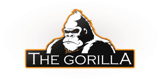 gorilla  - gorilla stock-grafiken, -clipart, -cartoons und -symbole