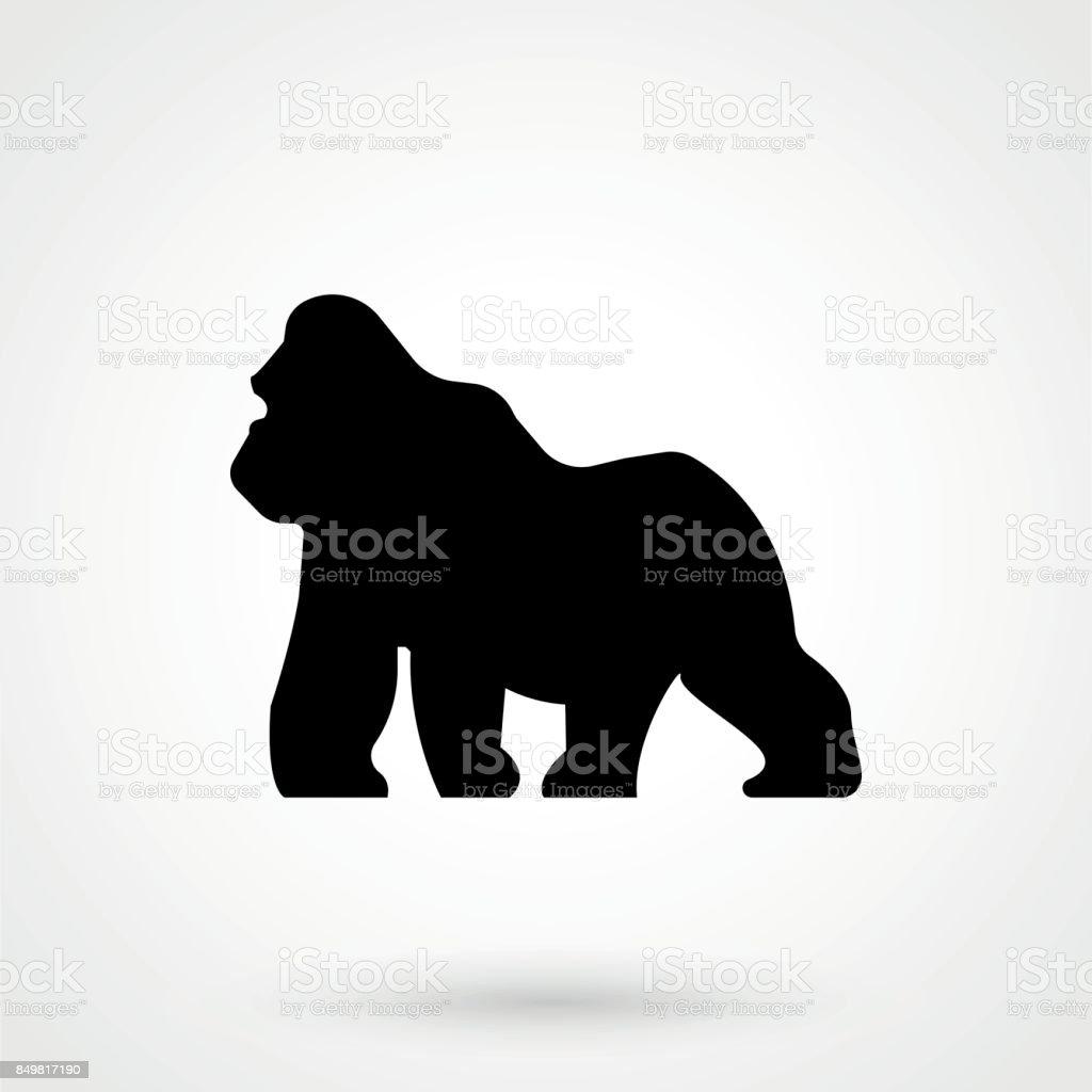 Gorila  - ilustración de arte vectorial