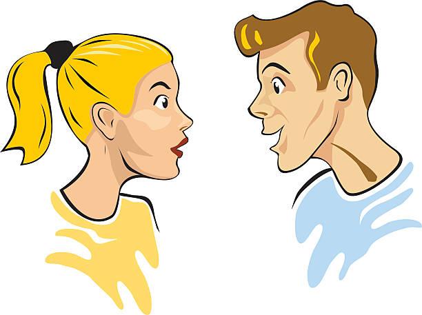 Gossip vector art illustration