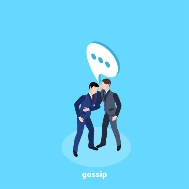illustrazioni stock, clip art, cartoni animati e icone di tendenza di gossip - ear talking