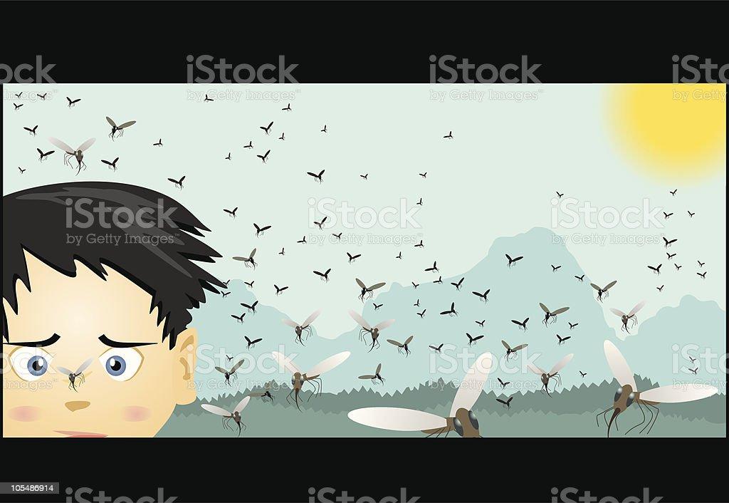Got Bug Spray? vector art illustration