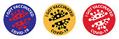 I got vaccinated covid-19. Vaccinated Stamps