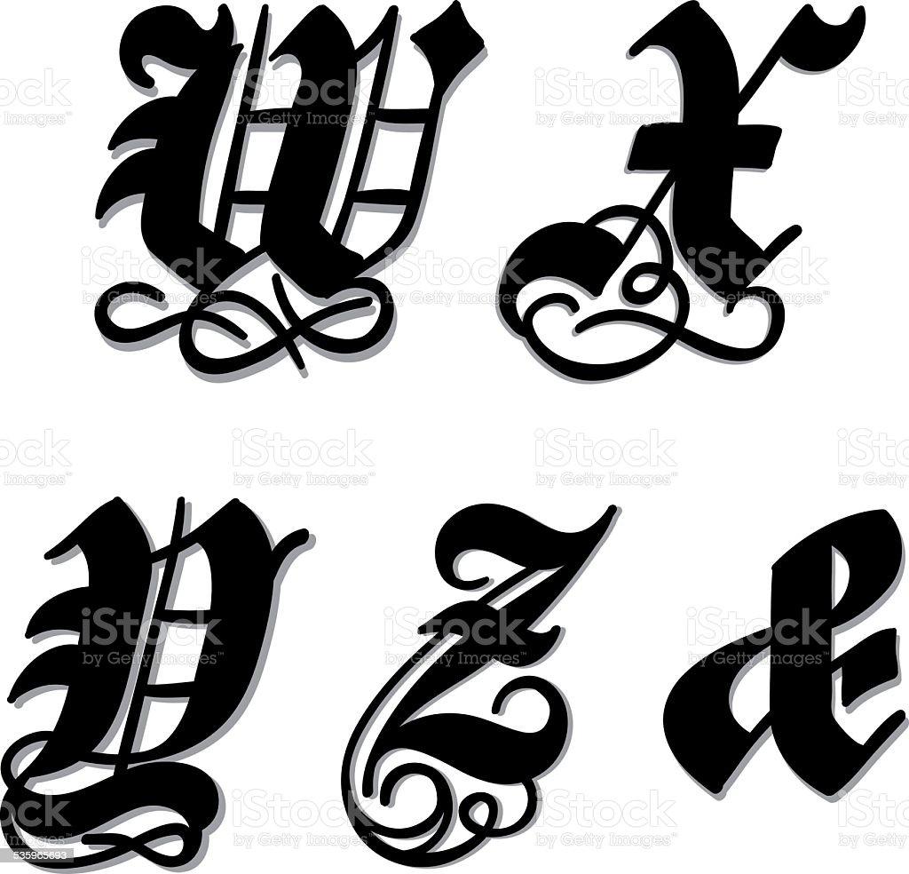 Style gothique lettre de lalphabet lettres w x y z esperluette style gothique lettre de lalphabet lettres w x y z thecheapjerseys Choice Image