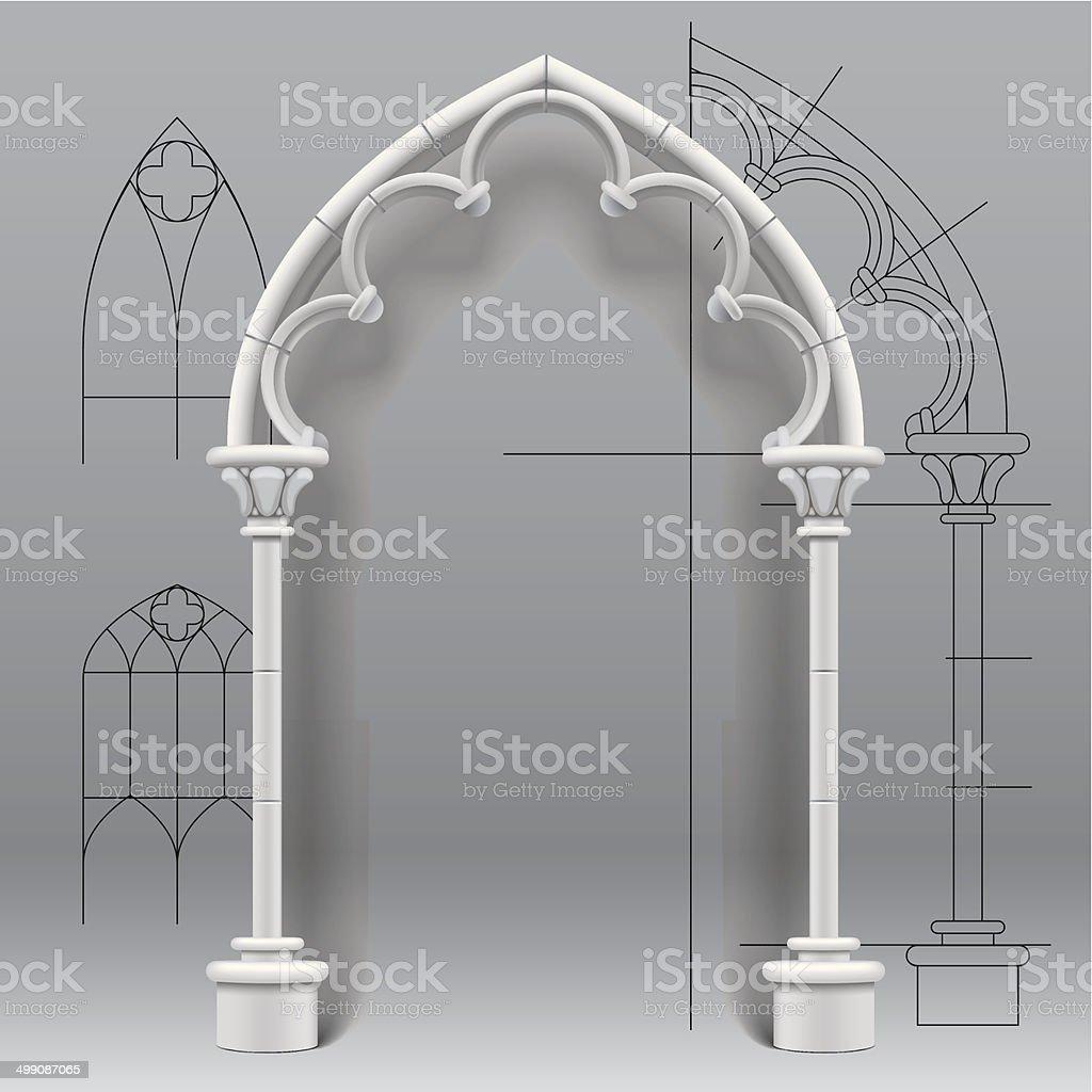 Gothique arch - Illustration vectorielle