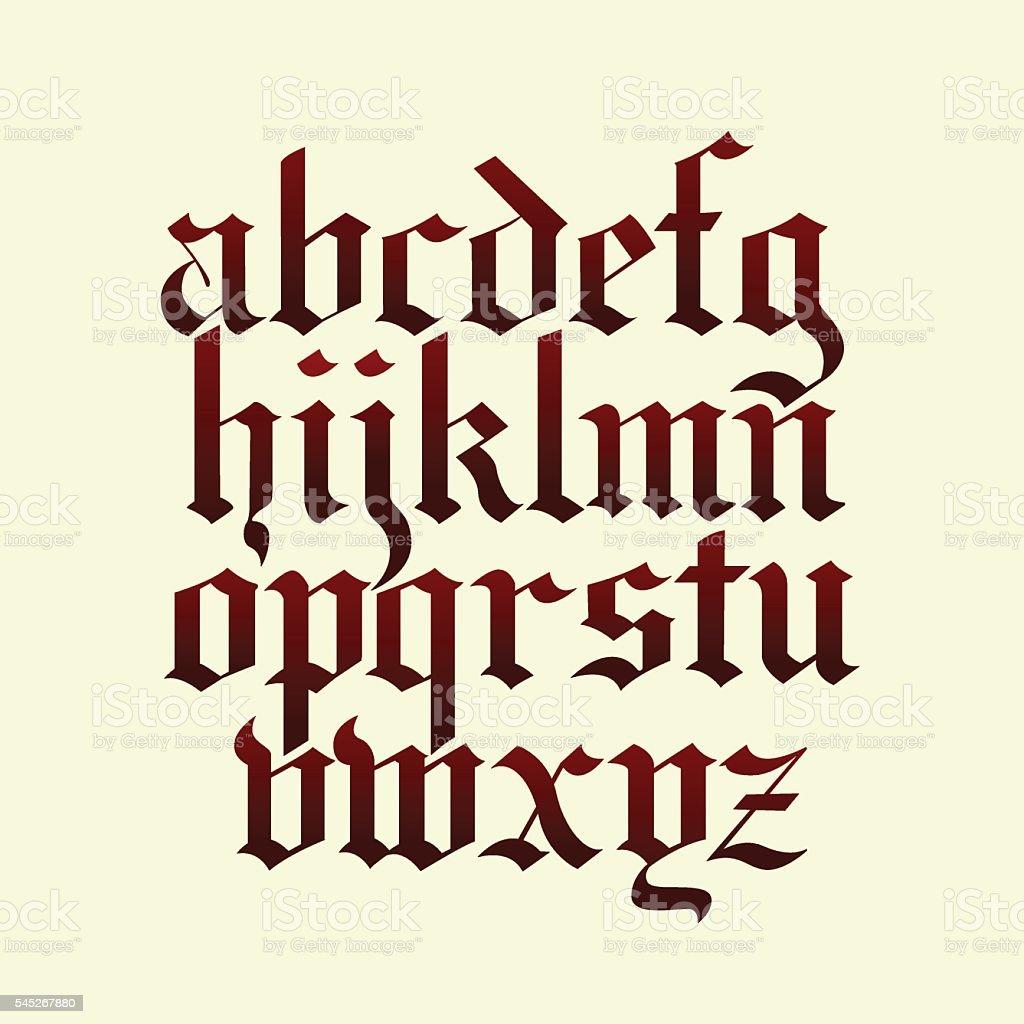 gothic calligraphy alphabet vector vector art illustration
