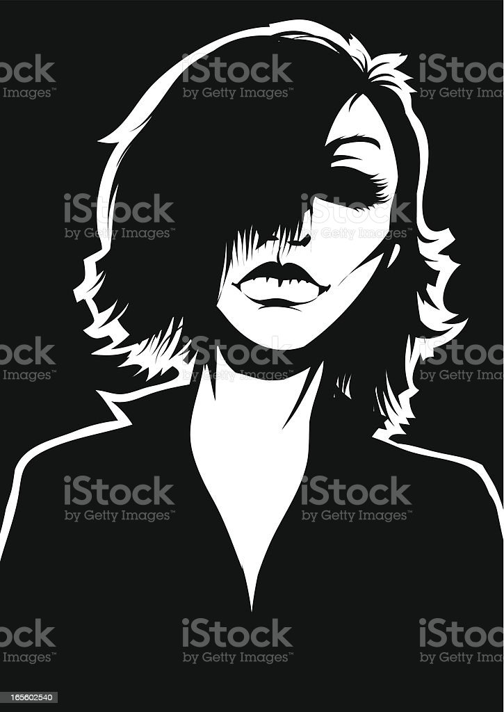 Gothic character royalty-free stock vector art