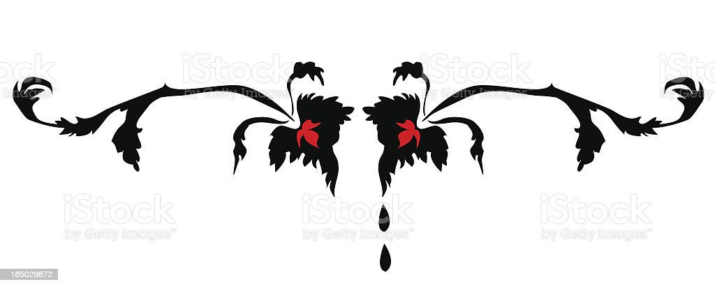 Gothic Fairytale Accent ( Vector ) royalty-free stock vector art