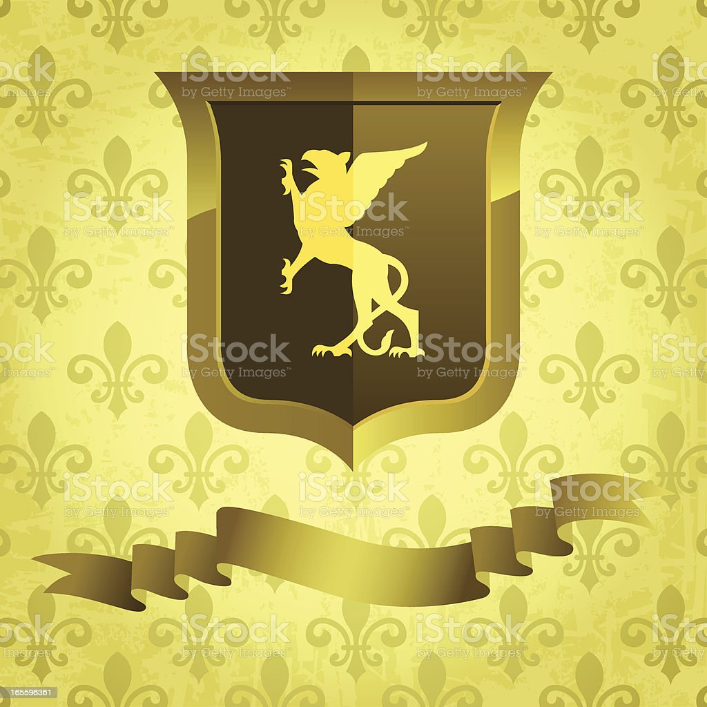 Gothic Griffin royalty-free stock vector art