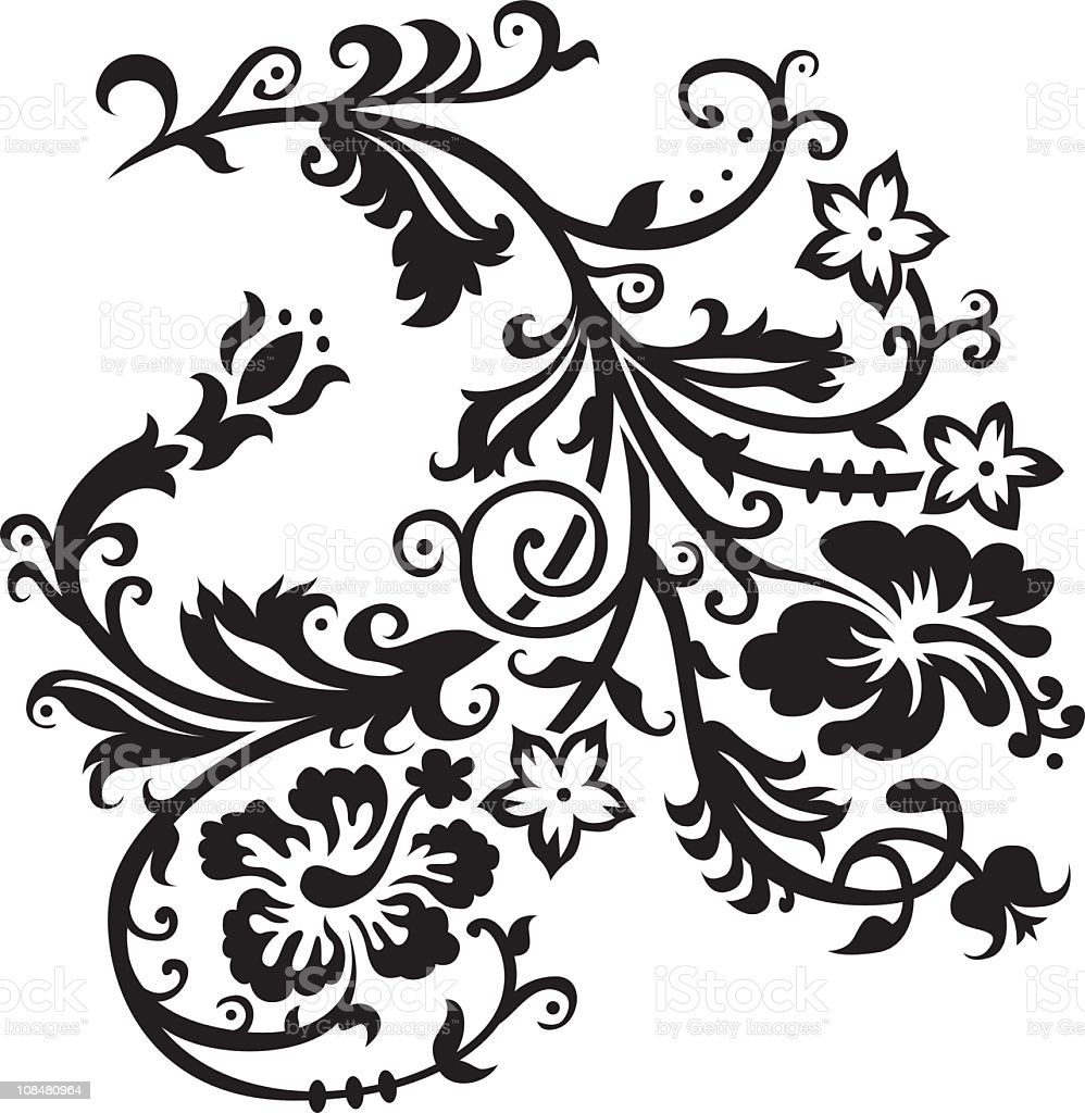 Gothic Hawaiian Flower Clip Art Stock Vector Art More Images Of