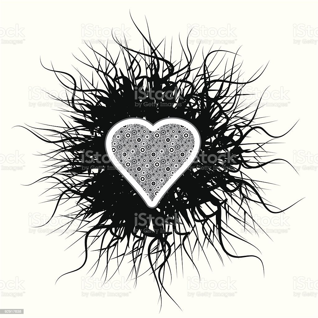 Gothic love heart (vector & jpeg) royalty-free gothic love heart stock vector art & more images of abstract