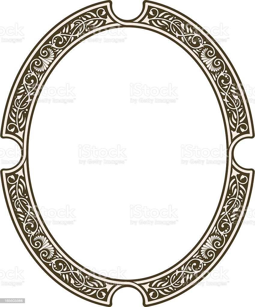 Gothic Oval Frame royalty-free stock vector art