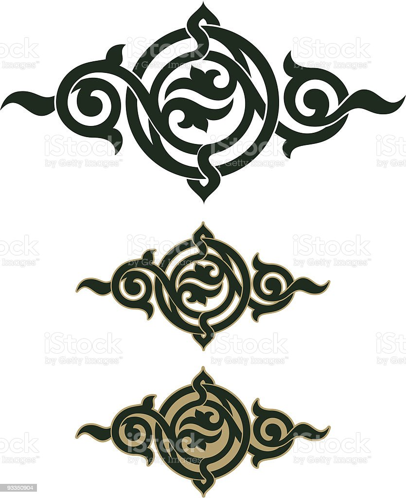 gothic scroll design stock vector art more images of arabic style