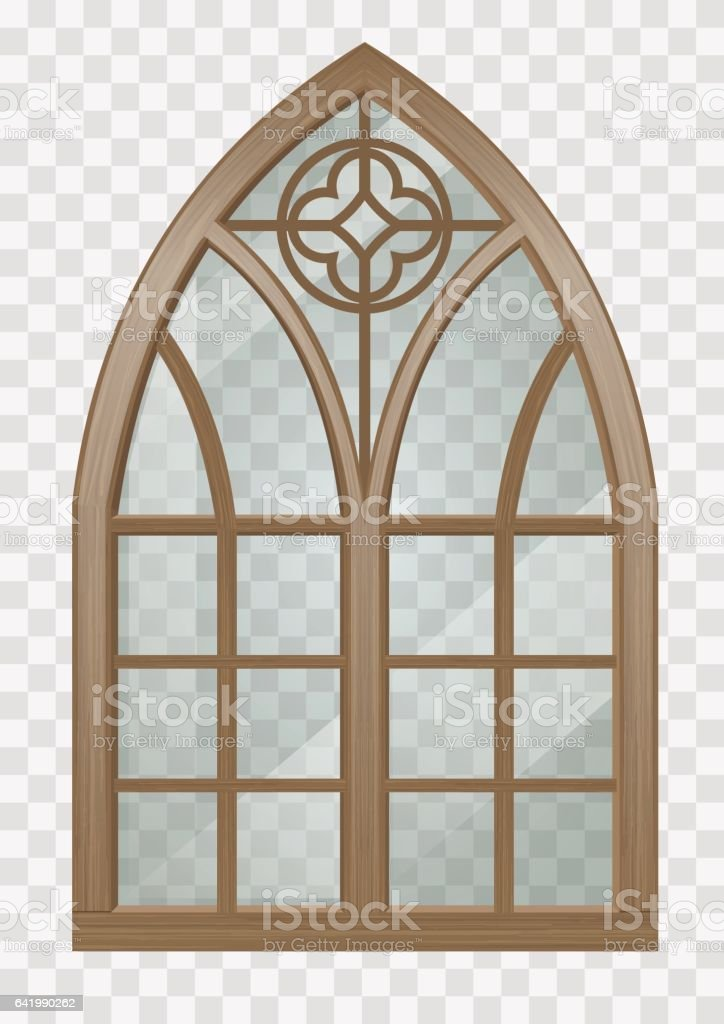 Gothic Window Of Wood Royalty Free Stock Vector Art Amp