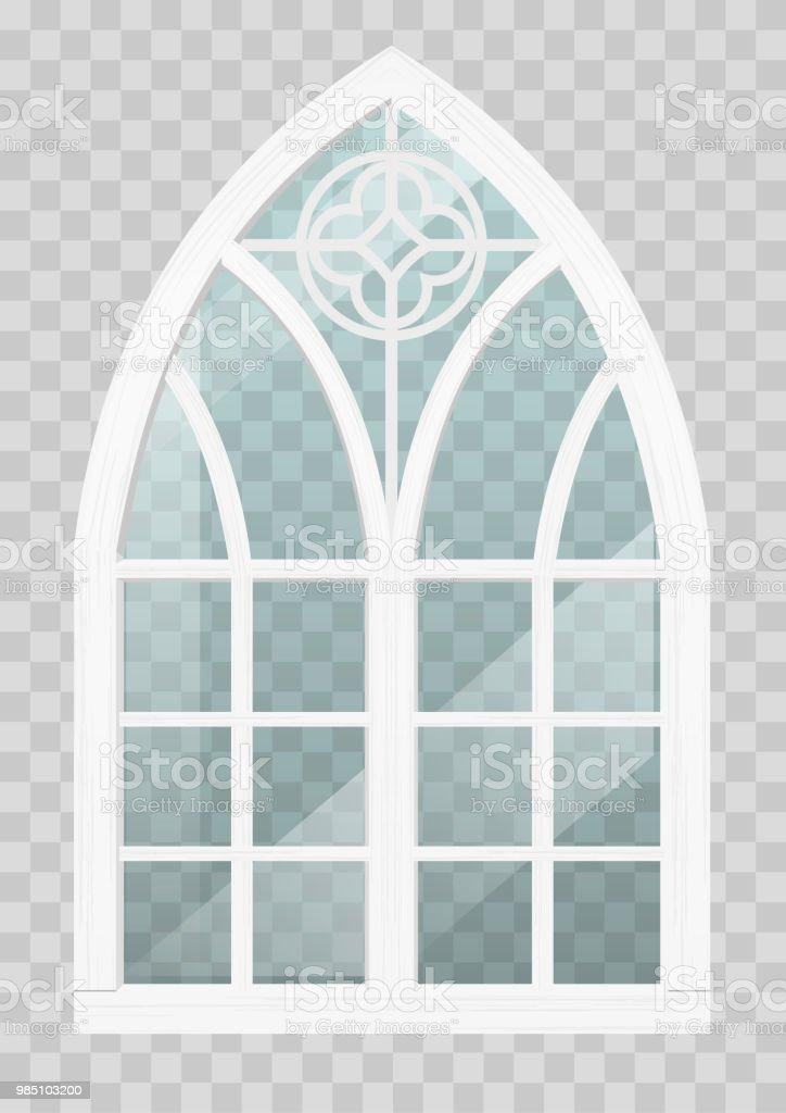 gotisches fenster aus holz gotisches fenster aus holz stock vektor art und mehr bilder von with fenster aus