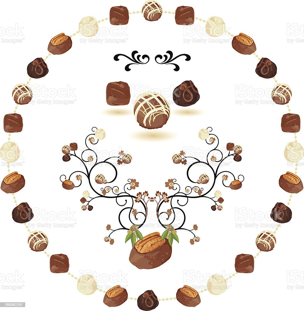 Gourmet Chocolate Bush royalty-free stock vector art
