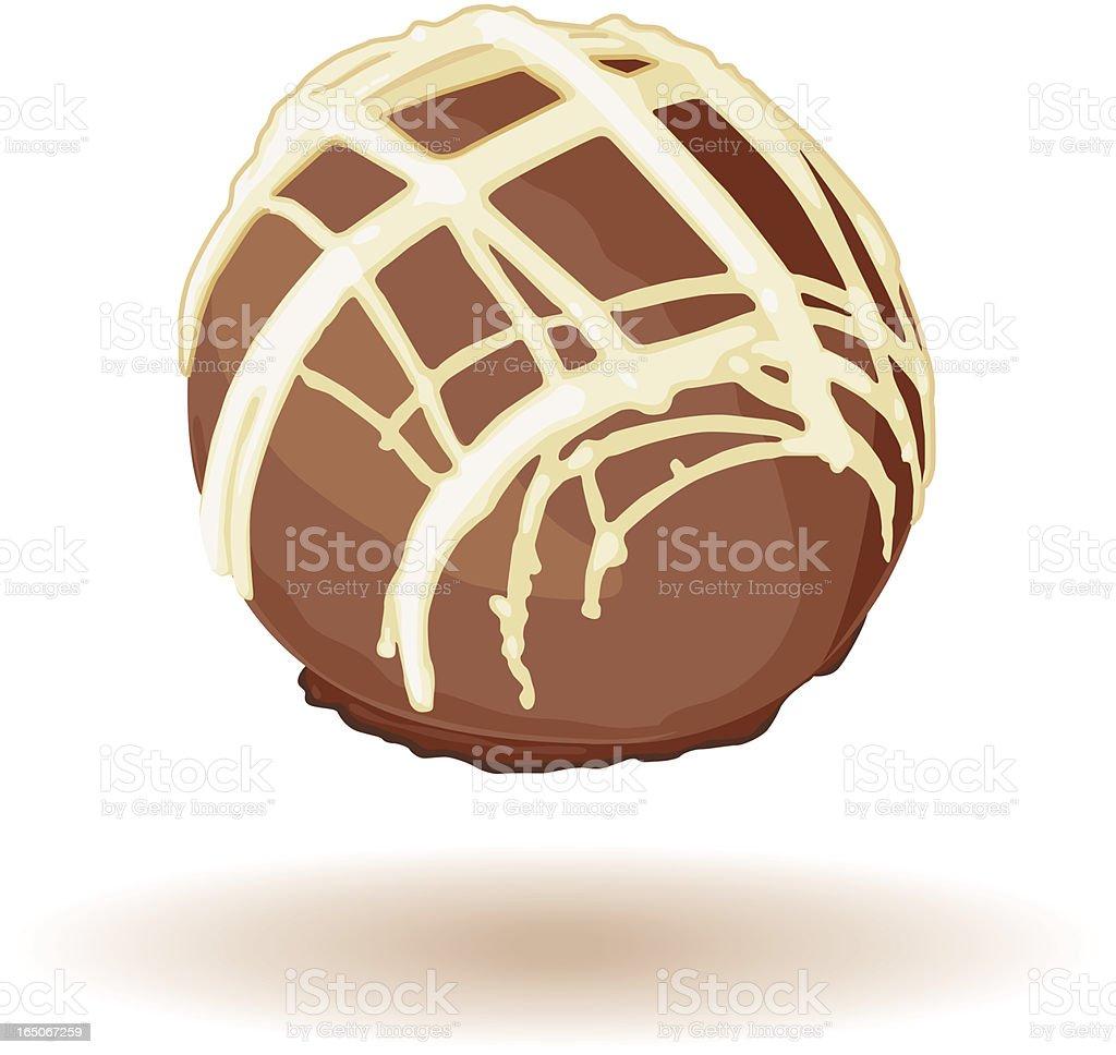 Gourmet Chocolate Candy vector art illustration
