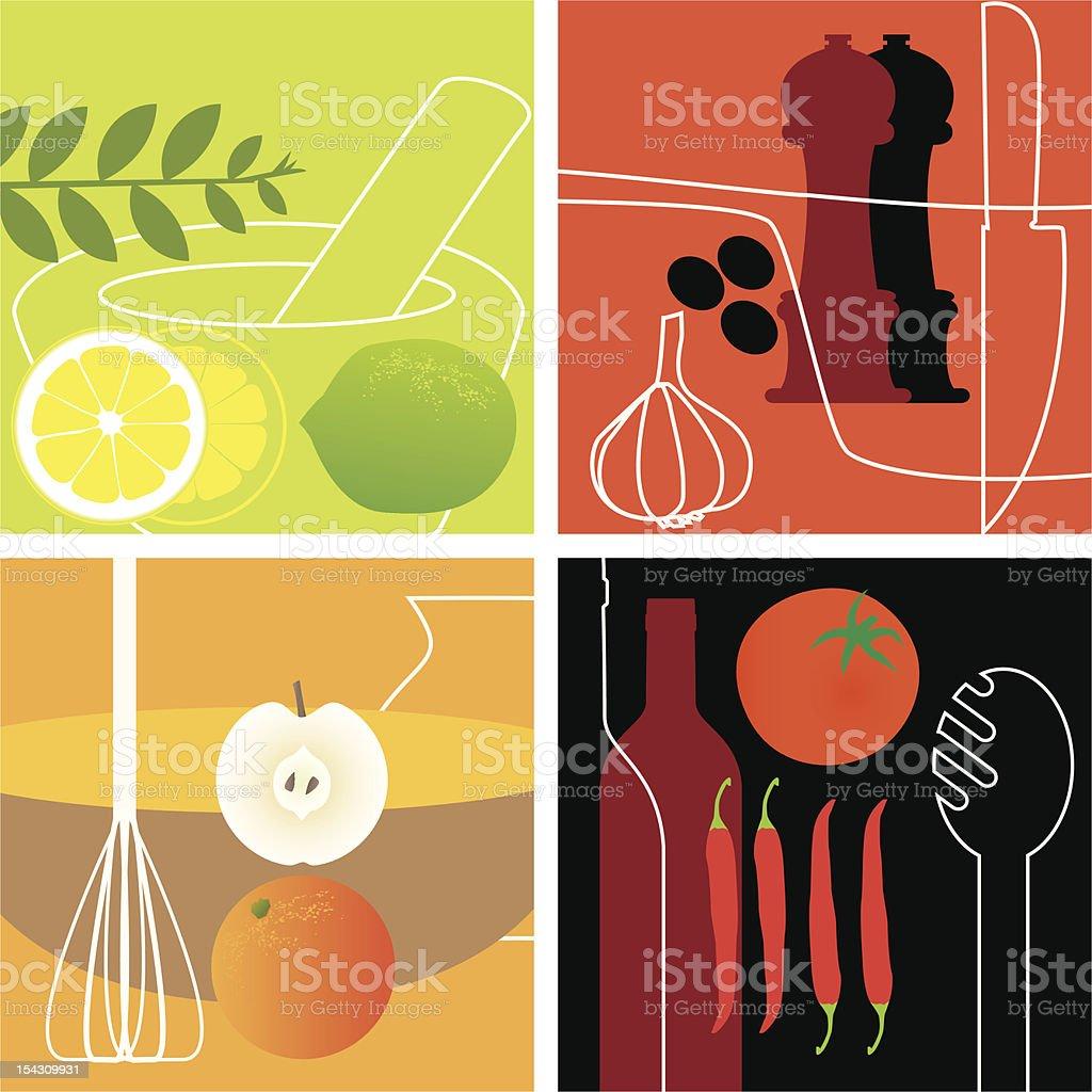 Gourmet Cuisine royalty-free stock vector art