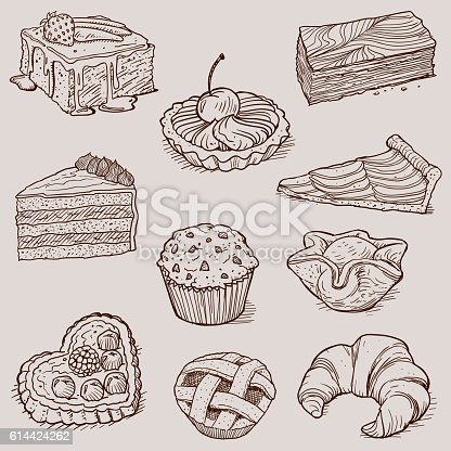 istock Gourmet Desserts and Bakery Collection 614424262