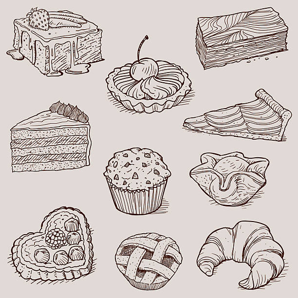 Gourmet Desserts and Bakery Collection – Vektorgrafik