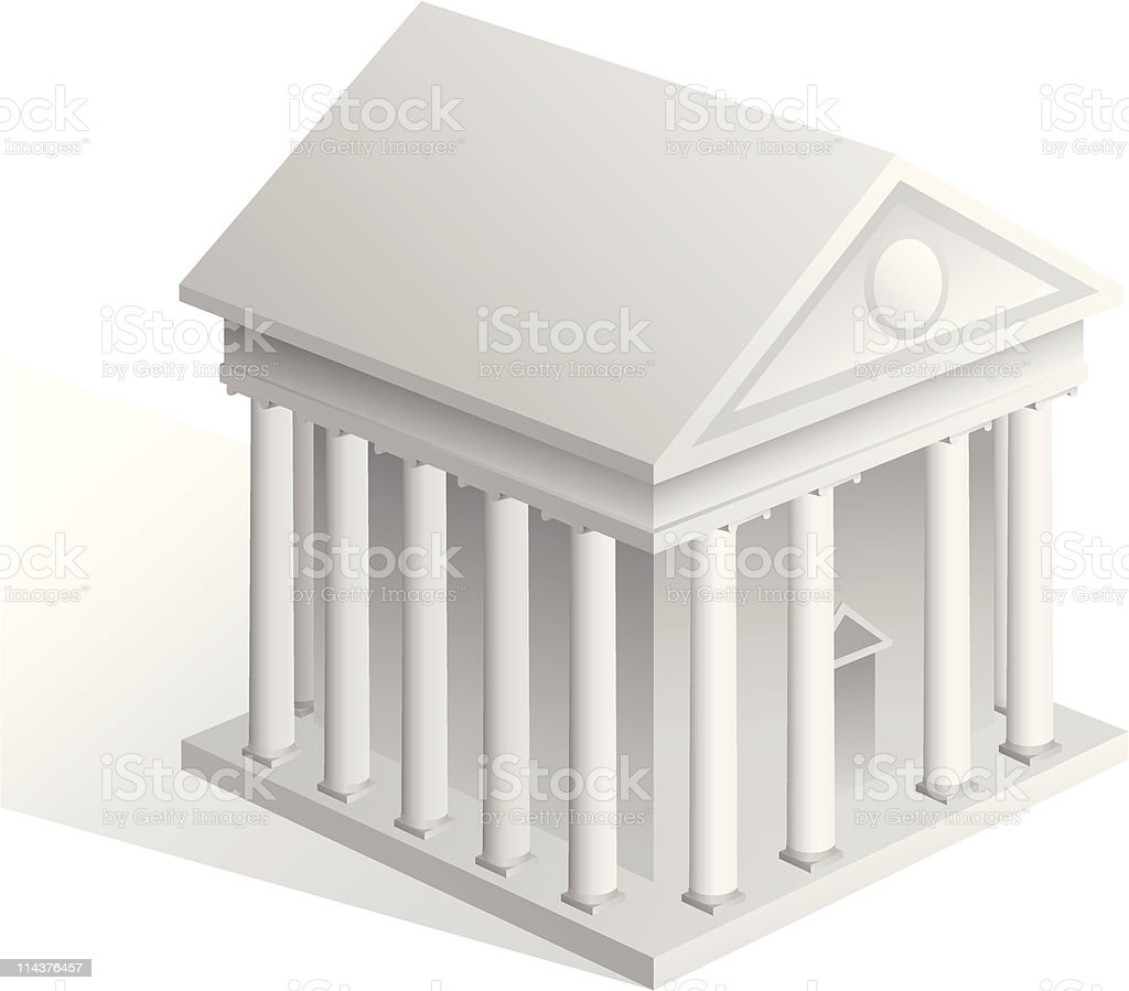 Government Building royalty-free stock vector art