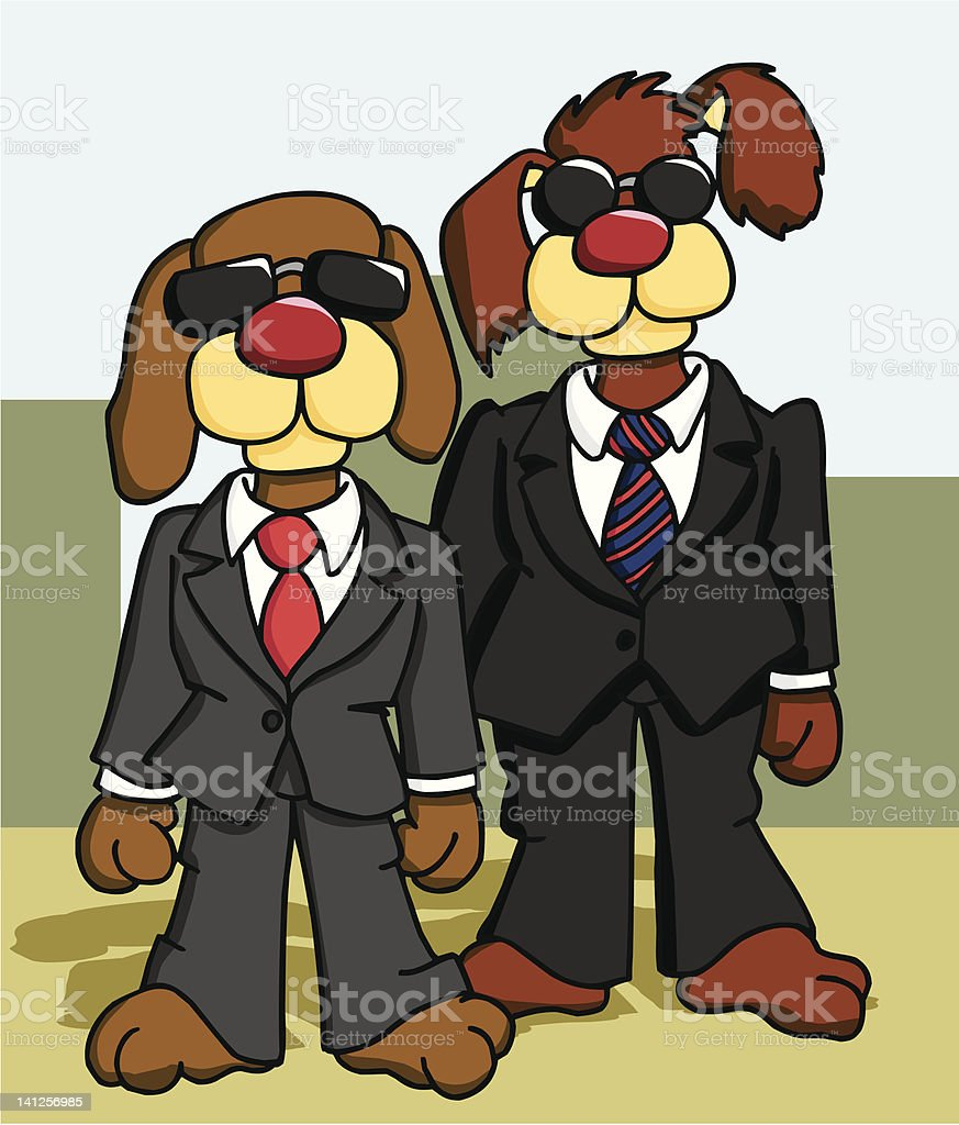 Government Dog Agents royalty-free stock vector art