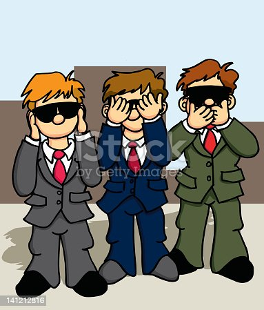 Hear, See, Speak no Evil. The government in action.