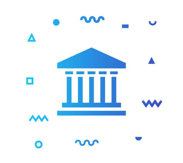 government line style icon design - abgeordnetenhaus stock-grafiken, -clipart, -cartoons und -symbole