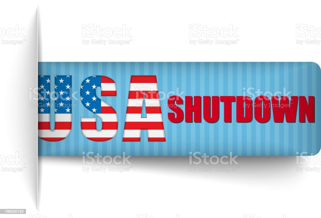 Government Shutdown USA Closed Banners. royalty-free government shutdown usa closed banners stock vector art & more images of badge