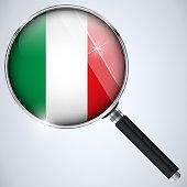 Vector - NSA USA Government Spy Program Country Italy