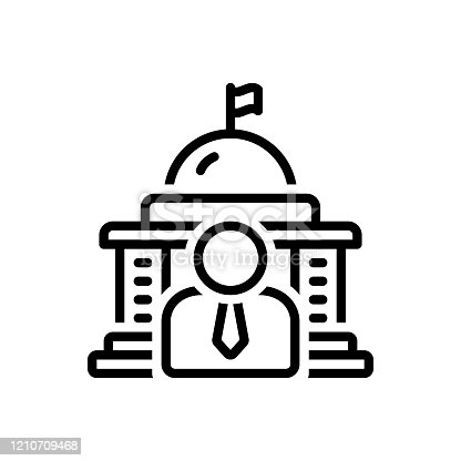 Icon for governor, government, people, democracy, flag, state, polity, embassy, building, capitol, court house
