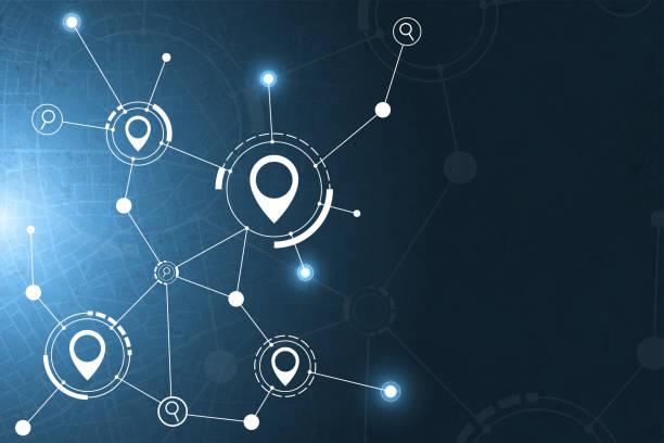 gps und suche symbol technologie abstrakten hintergrund - karte navigationsinstrument stock-grafiken, -clipart, -cartoons und -symbole