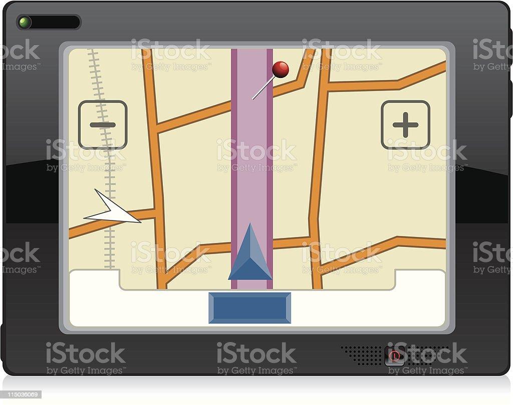Gps gadget vector art illustration