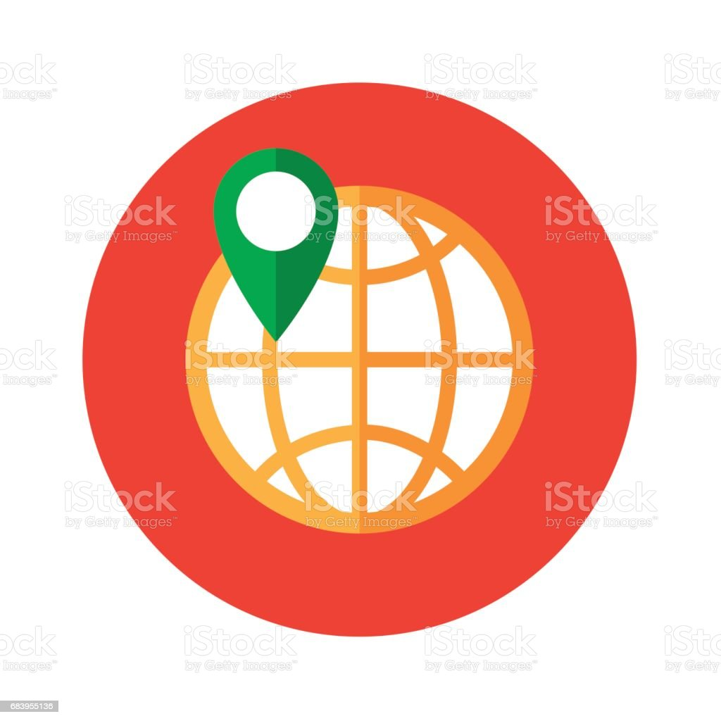 gps icon global positioning system information technology design