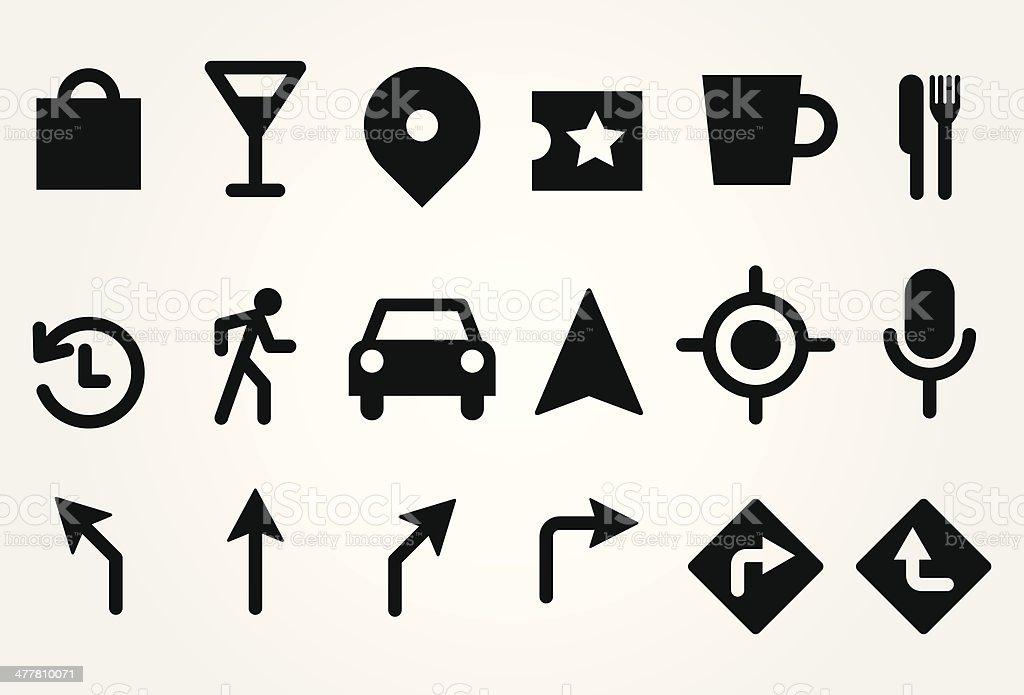 Gps icons royalty-free stock vector art