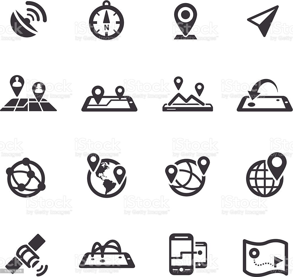 Gps, Location and Communication Icons - Acme Series vector art illustration