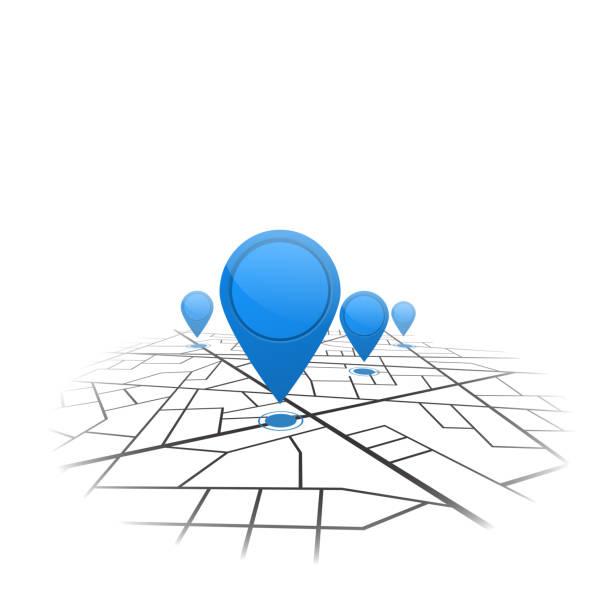 gps-navigation hintergrund. straßenkarte, isoliert auf weiss. vektor - karte navigationsinstrument stock-grafiken, -clipart, -cartoons und -symbole