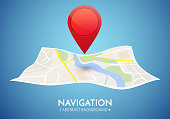 Gps navigation vector concept.