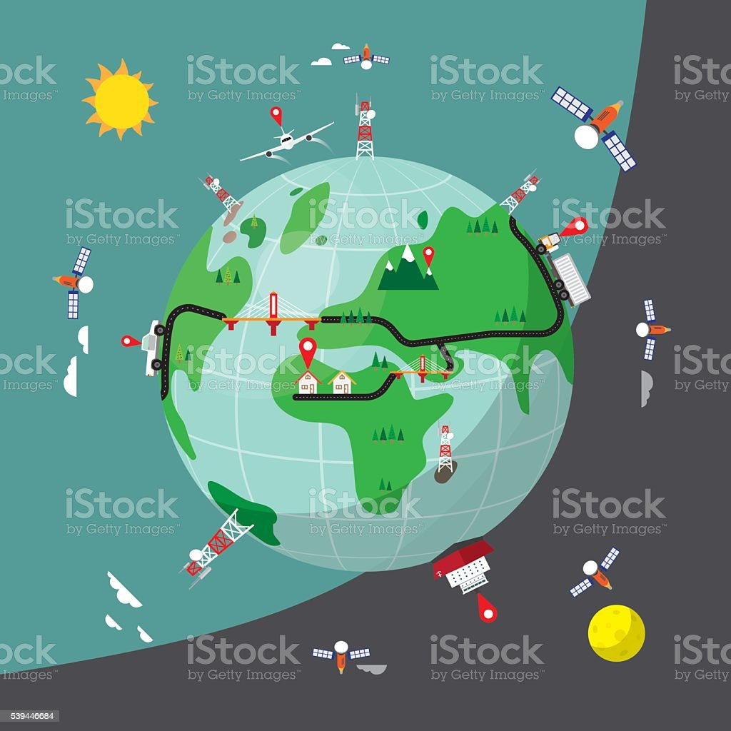 Gps tracking in simple world map stock vector art more images of gps tracking in simple world map royalty free gps tracking in simple world map stock gumiabroncs Image collections