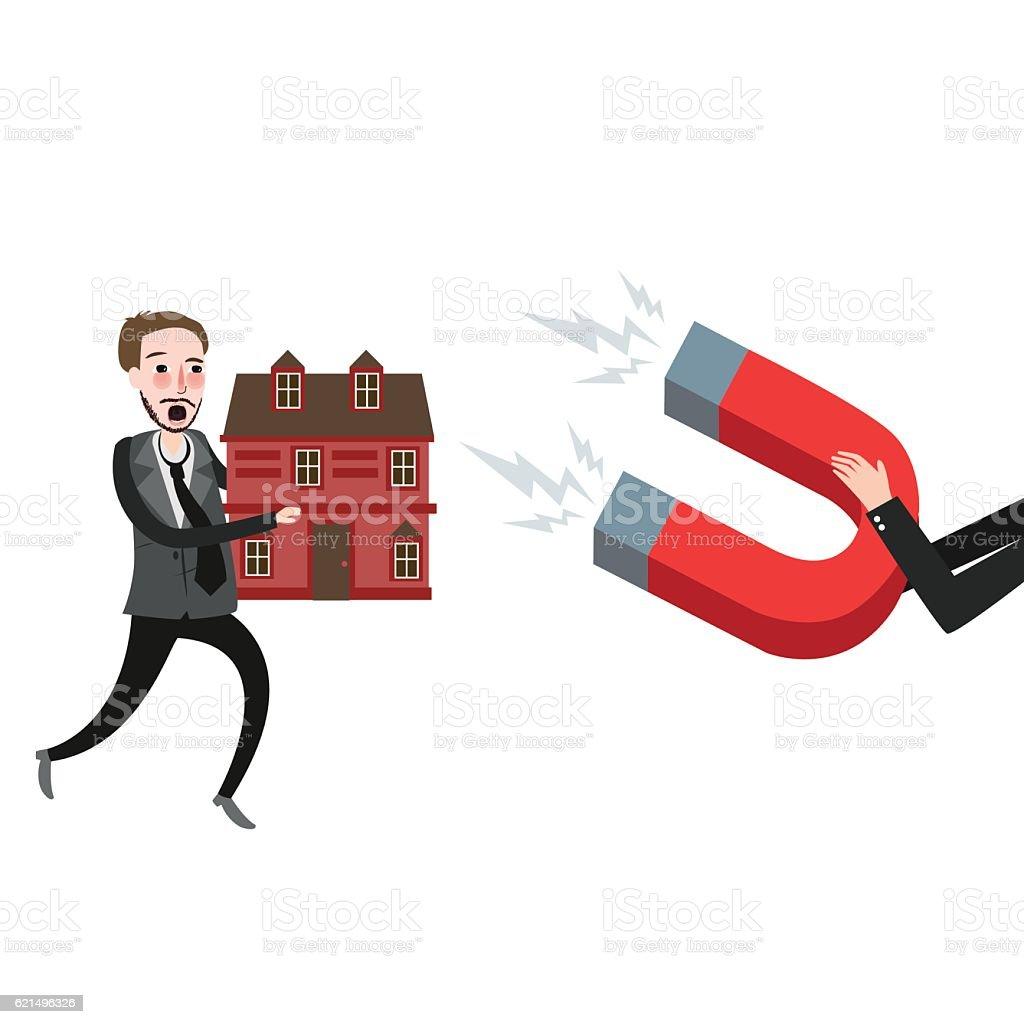 grab home house foreclosure try to defend grab home house foreclosure try to defend – cliparts vectoriels et plus d'images de affaires libre de droits