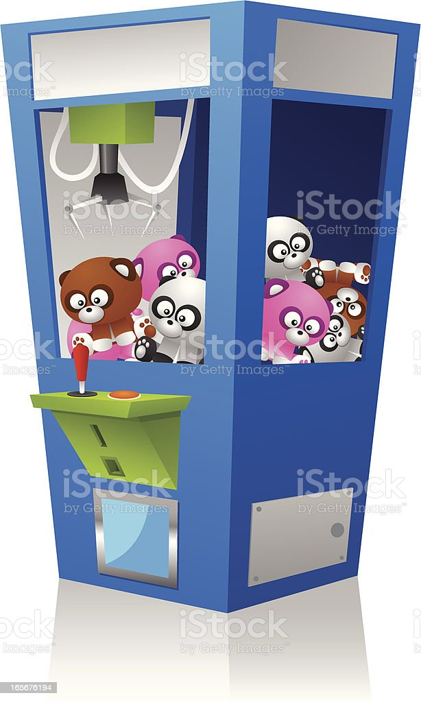 Grabber arcade game vector art illustration